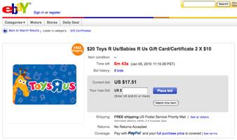buy gift cards on ebay safely